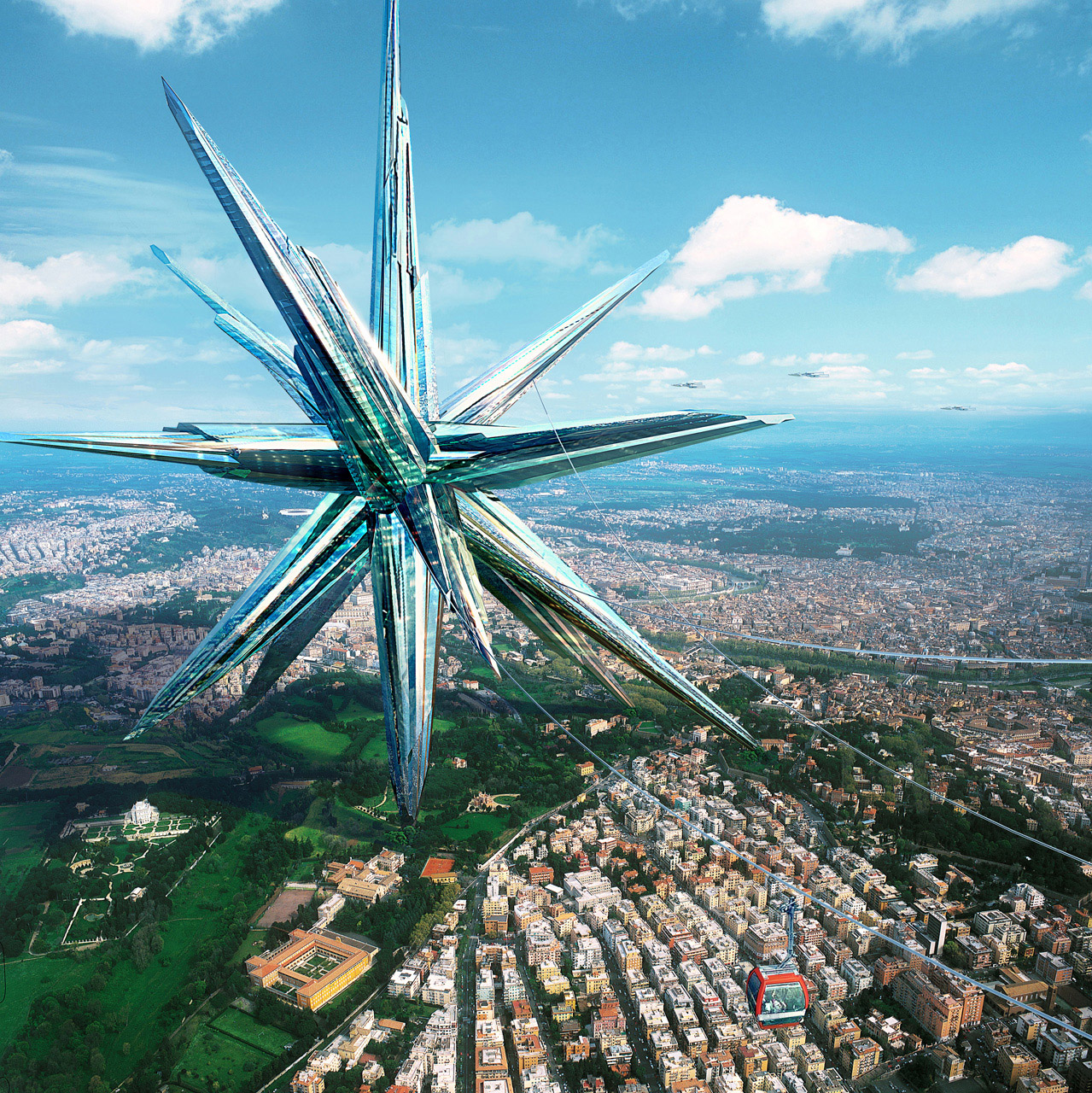 Город будущего. Может передвигаться по планете!